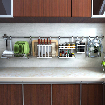 Foldable-stainless steel wall hangers kitchen shelf