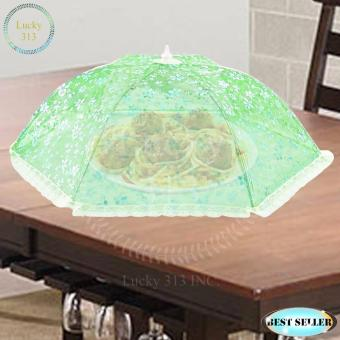 Foldable Umbrella Style Mesh Food Covers Green