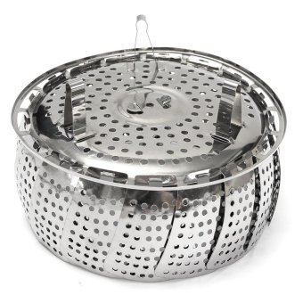 ... 11 Inch Stainless Steel Vegetable Steamer Scaling Drawer Food Egg Source Folding Stainless Mesh Food