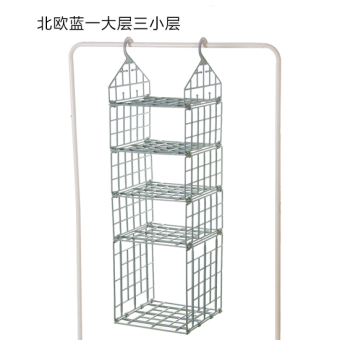 Folding wardrobe layered storage rack