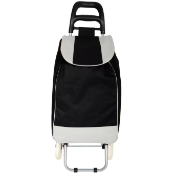 Folding Wheeled Festival Shopping Trolley Bag (Black)