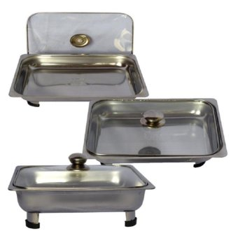 Food tray Set of 3 (Silver)