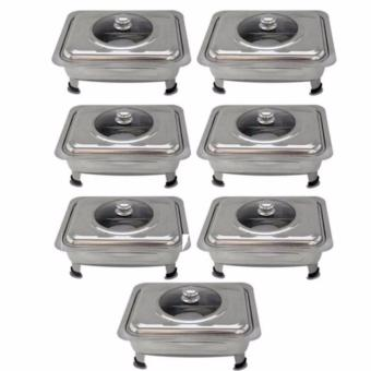 Food Warmer Rectangular Tray Stainless for Catering, Serving ,Events and Party Set of 7