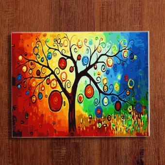 """Fortune Tree"" DIY (Do-It-Yourself) Oil Painting By Numbers OnCanvas For Home Wall Decor, New Hobby And Gift Price Philippines"