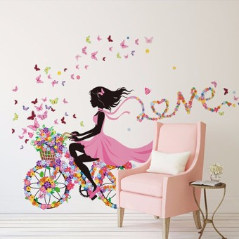 Freebang Flower & Girl Removable Wall Sticker Vinyl Decal DIY Room Home Mural Decor
