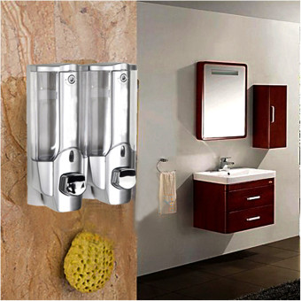 Freebang Soap Dispensers 2 Single 350ml Soap Sanitizer Shampoo Dispenser Wall Mount Kitchen Shower Bathroom - intl
