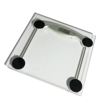 French kiss Accuscale kg/lbs/stones Digital Tempered Glass Bathroom Weighing Scale with Battery (150kg capacity)