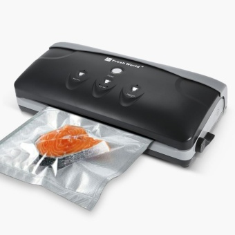 Fresh World Household Automatic Vacuum Sealer Vacuum Packaging Machine Vacuum Packer Fresh Food Saver Vacuum Sealing System for Sous Vide Cooking Includes 10 Vacuum Bags BPA Free - intl