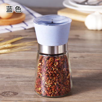 Freshly ground black pepper glass Grinder