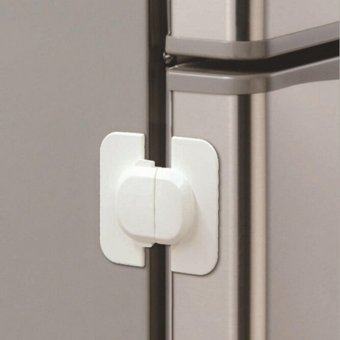 Fridge Refrigerator Freezer Door Latch Catch Lock For Baby ToddlerKids Safety - intl