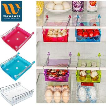 Fridge Storage Rack Drawer Type Storage Box Kitchen Shelf TableStorage Racks (Blue)