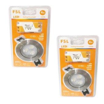 FSL LED Ceiling Downlight 4W Set of 2 (Daylight)