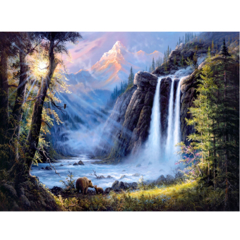 Full Drill Waterfall Scenery 5D Diamond DIY Painting Craft HomeDecor - intl Price Philippines