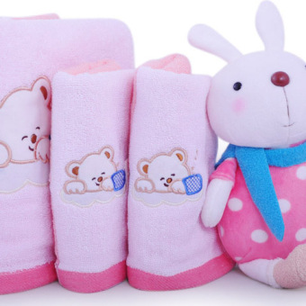 Furijieyu cute cotton baby newborns small tower square towel