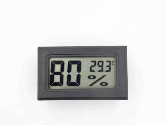 FY-11 Mini Digital LCD Environment DIY Thermometer Hygrometer embedded temperature and humidity Meter In room Black or white - intl