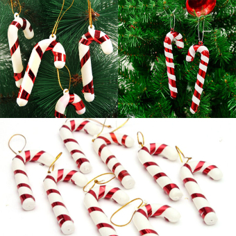 GAKTAI 40pcs Xmas Tree Candy Cane Hanging Ornament Decoration Christmas Home Party Decor