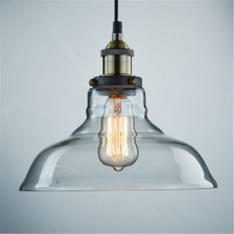 GAKTAI Vintage Glass Lamp Chandelier Antique Ceiling Pendant Light Lampshade Hanging Fixture With a Bulb fixed - intl - 4