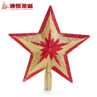 GANGHENG 15-20cm red gold sticky powder Christmas tree topstar