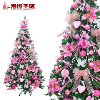 GANGHENG 150cm pink series package Christmas tree