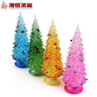 GANGHENG 15cm20cm25cm 25cm colorful acrylic flash Christmas tree