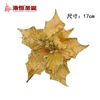 GANGHENG 17cm Christmas tree decorative sharp Double Layer Adhesive Christmas flower