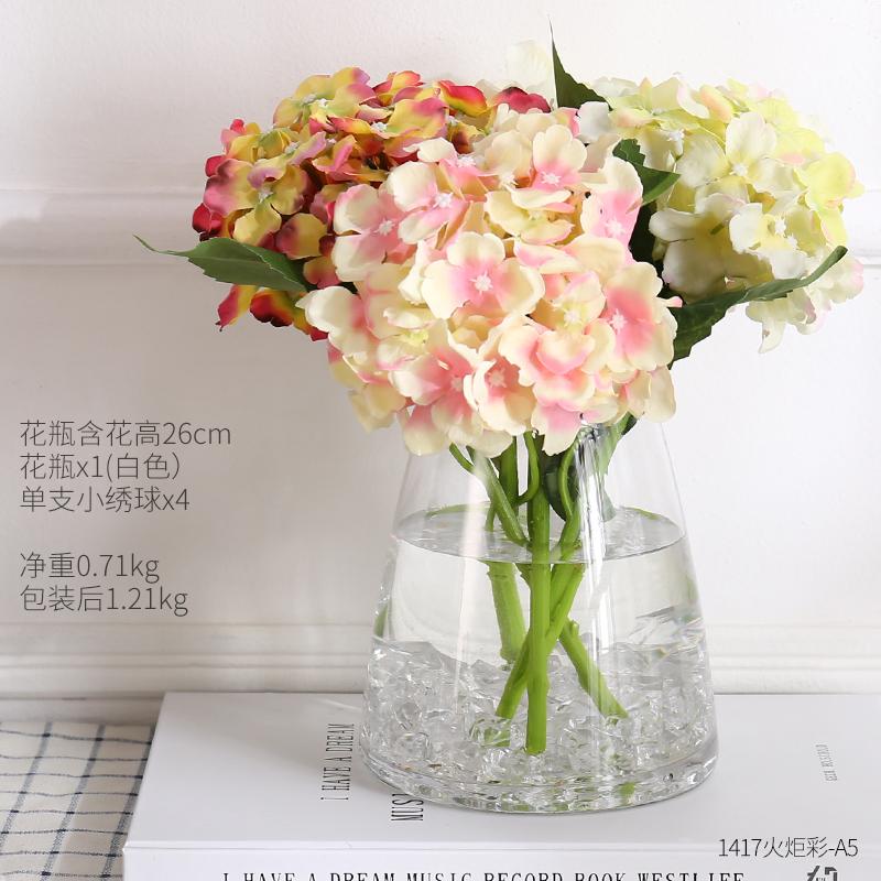 Philippines Garden Flower Arrangement Dried Flowers Glass Vase