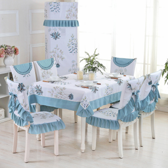 Garden rabbit coffee table dining table cushion tablecloth dining chair cover