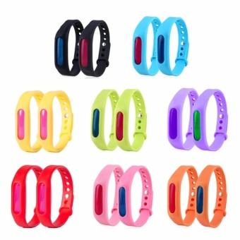 G@Best Anti Mosquito Pest Insect Bugs Repellent Wrist Band BraceletWristband Set of 2 (Random Color)