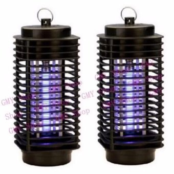 G@Best Electric Mosquito Fly Bug Insect Zapper Killer With TrapLamp 220V Black New Set of 2