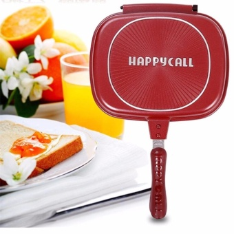 G@Best Happy Cooco Pan Double Grill Pan 32cm (Red)