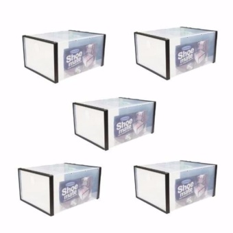 G@Best Shoe Mate Clear Collapsible Shoe Box Set of 5 - Medium