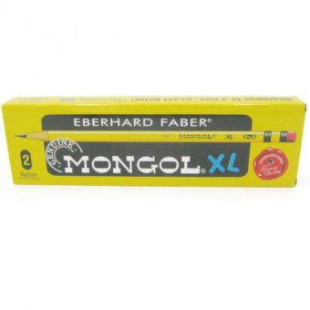 Genuine Mongol Pencil Jumbo XL NO.2 Medium 12 Pcs Set