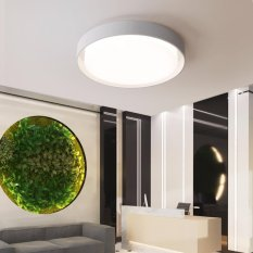 Geometric Art Round Modern Minimalism LED Ceiling Light 28W Cool White For Living Room Dining Bedroom Clothes Store Kitchen Home Hotel Bar Decorative