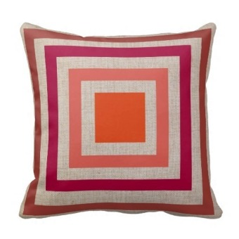 Geometric Cotton One Side Printing Pillow Case Cover (Multicolor)