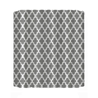 Geometry Pattern Shower Curtain Bathroom Waterproof Printed Curtain- intl Price Philippines