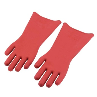 Gift Insulated 12Kv High Voltage Electrical Insulating Gloves For Electricians - intl