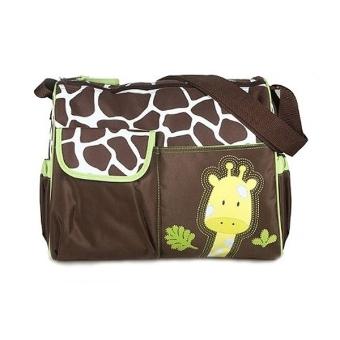 Giraffe Pattern Mummy Bag Green