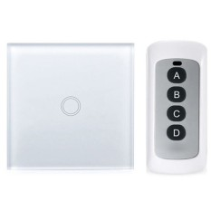 EU Plug Remote Control Panel Smart Touch Wall Light Switch 1 Gang
