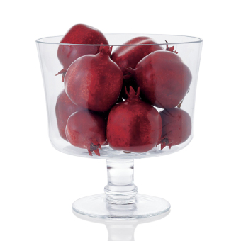 Glass fruit bowl tall Cake Bowl Salad Bowl cold drink cup