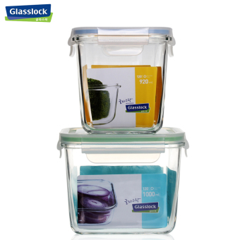 Glass lock milk powder cans tempered glass container storage sealed containers