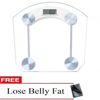 Glass Personal Weighing Scale with Free Lose Belly Fat