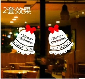Glass Window doors and windows Christmas wall adhesive paper wall stickers
