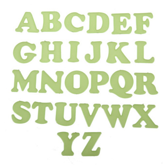 Glow In The Dark 26 Alphabet Letters Word Decal Art Wall Stickers Kid Home Decor - intl