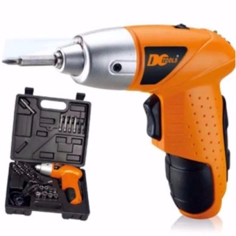 GMY Mini Portable Electric Drill Cordless Screwdriver 45pcs TOOLs(Orange)