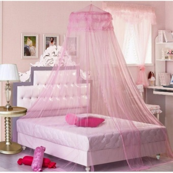 GMY Mosquito Net Bed Canopy King/Queen Size (Pink)