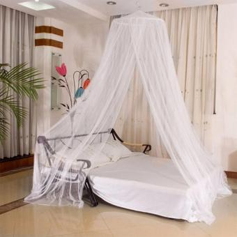 GMY Mosquito Net Bed Canopy King/Queen Size (White)