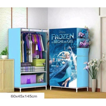 GMY Single 3D Pattern Non-Woven Folding Cloth Wardrobe Home Closet(Frozen)