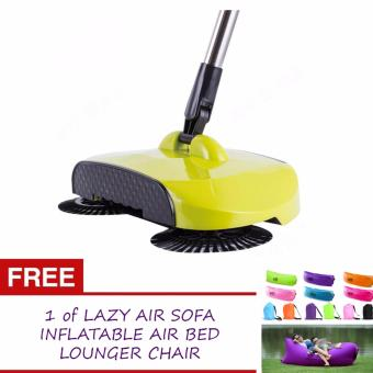 GMY360 Rotary Home Use Magic Manual Telescopic Floor Dust Sweeper(Green) with FREE 1 of Lazy Sofa Bed