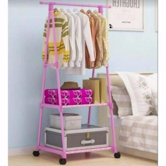 Gonzalez Multipurpose Durable Cloth Rack (Pink)