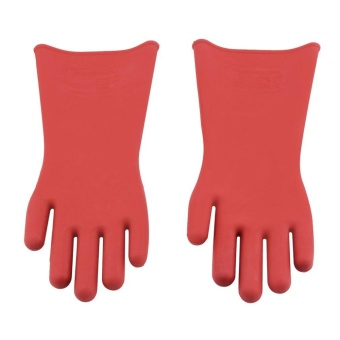 GOOD Insulated 12Kv High Voltage Electrical Insulating Gloves For Electricians - intl - 2